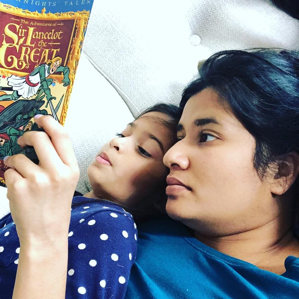 Syeda from @thepreciousyears on Instagram enjoying a Read Aloud from Level 2