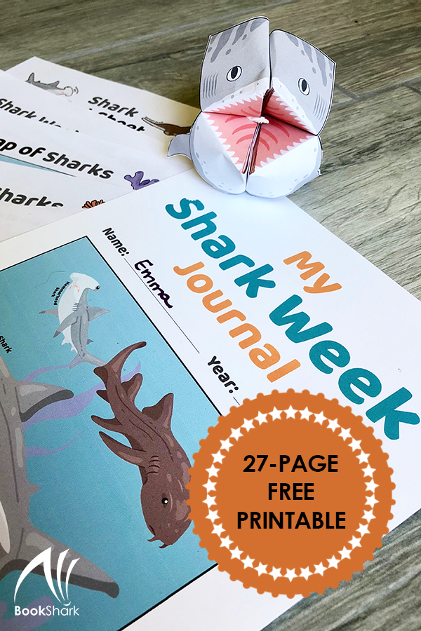 Shark Week Journal, free from BookShark secular homeschool curriculum