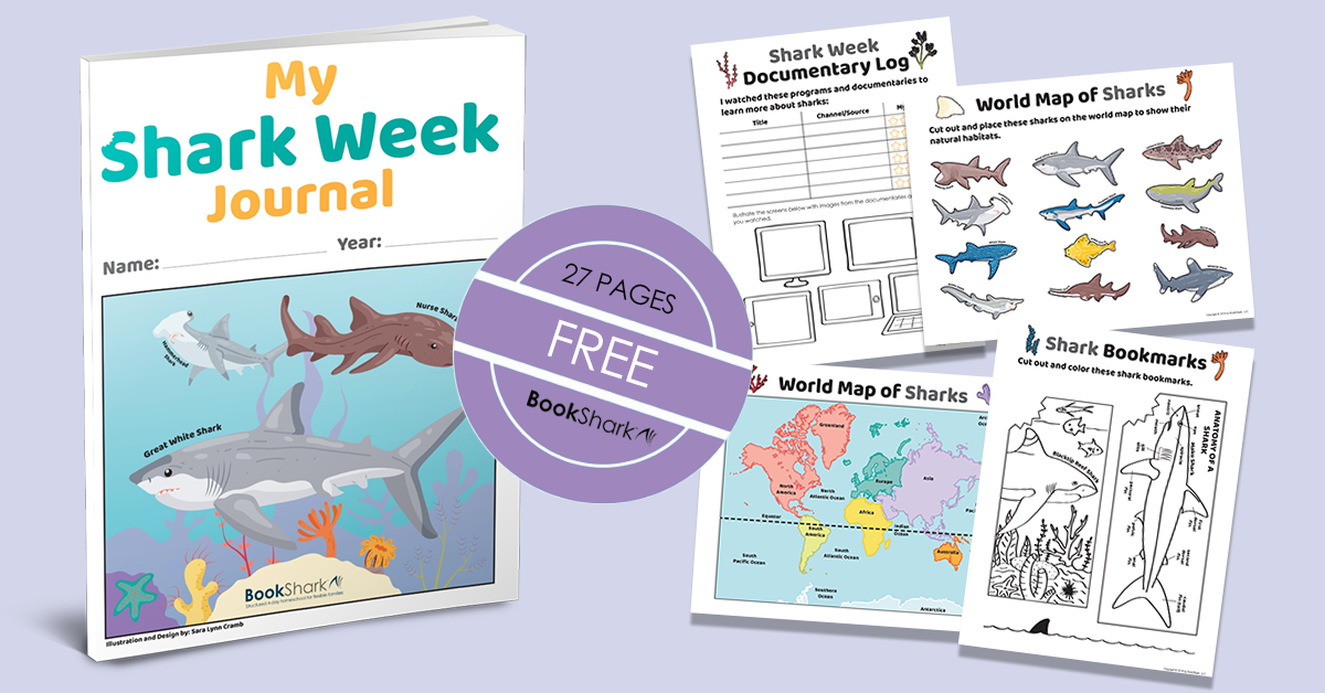 Shark Week Journal free from BookShark Homeschool Curriculum