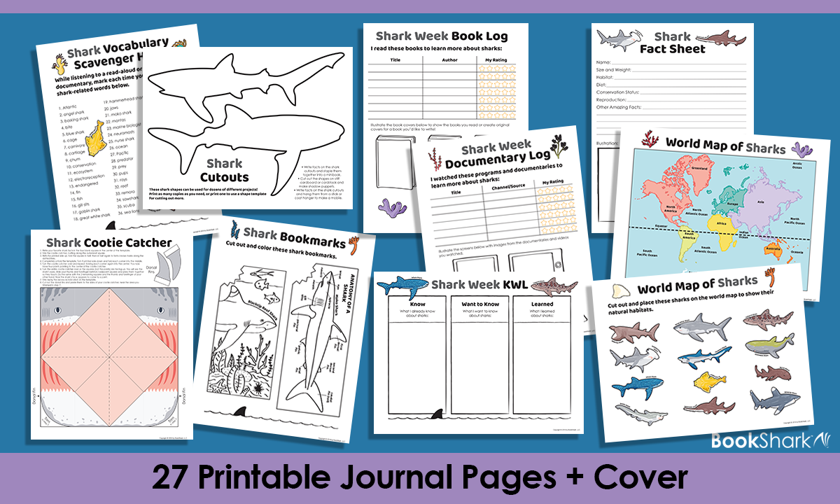 27 Printable Shark Week Journal Pages