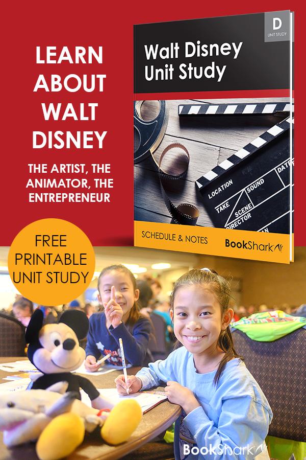Learn about Walt Disney the artist, the animator, the entrepreneur | Free printable unit study