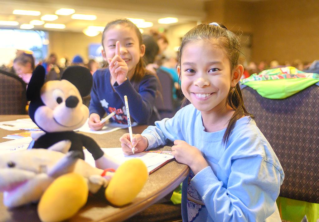 2 girls enjoying the lessons at Walt Disney Day Feb. 2019