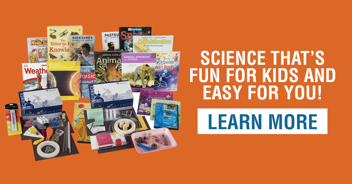 See BookShark's hands-on and literature-based Science programs.